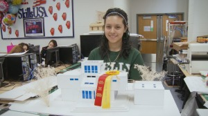 Maria and her winning project